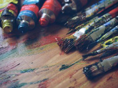 Projekte: Verschiedene Farbige Pinsel