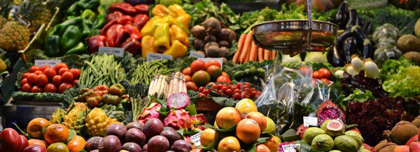 Ein umfangreiches Angebot an Gemüse
